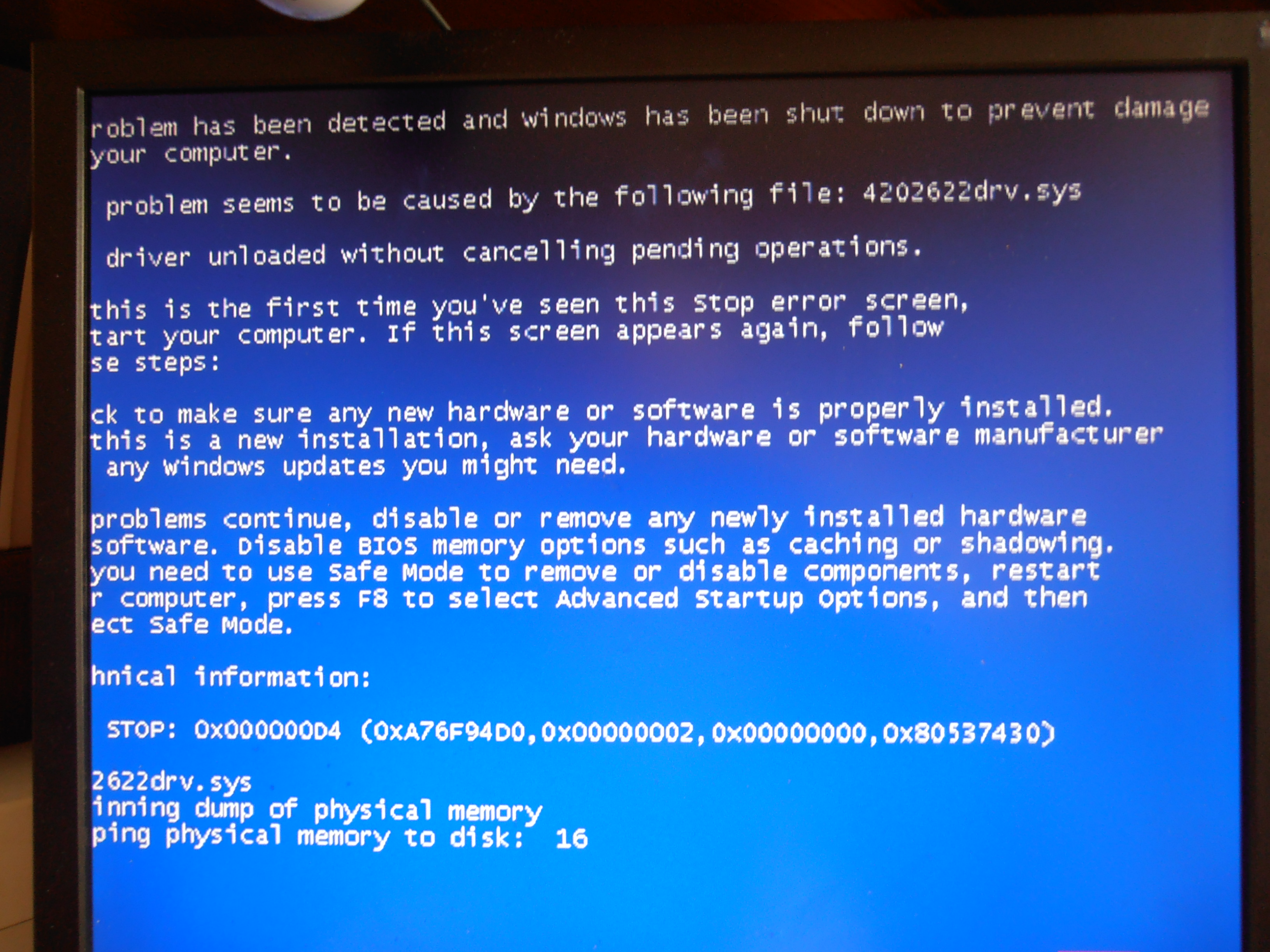 Почему компьютер перезапускается